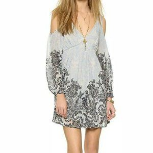 Free People Blue Penny Lover Mini Dress M